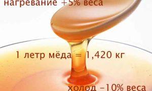 Как узнать сколько килограмов меда в литровой банке?