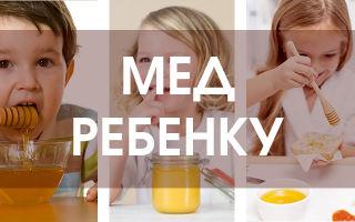 С какого возраста допустимо детям давать мед