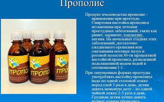 Рецепты применения настоек с прополисом